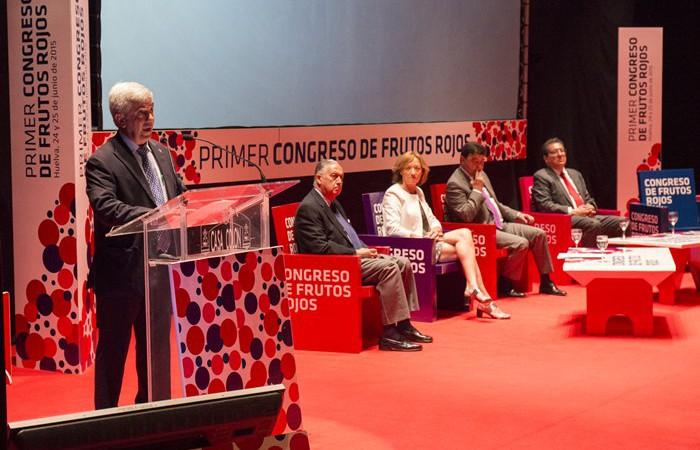 Alberto Garrocho, presidente de Freshuelva, en la inauguración