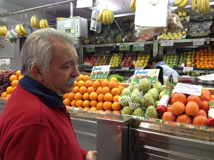 Fresas en el mercado del Carmen