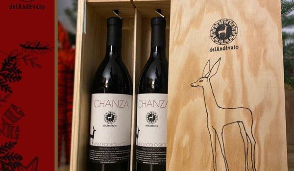 Botellas del tinto ecológico 'Chanza envejecido', que ha sido premiado en el Concurso 'Ecoracimo 2021'.