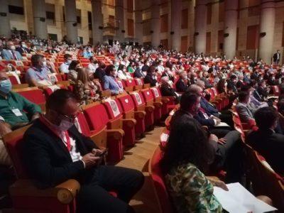 Asistentes al Palacio de Congresos de Huelva, lugar de celebración del VI Congreso de Frutos Rojos.